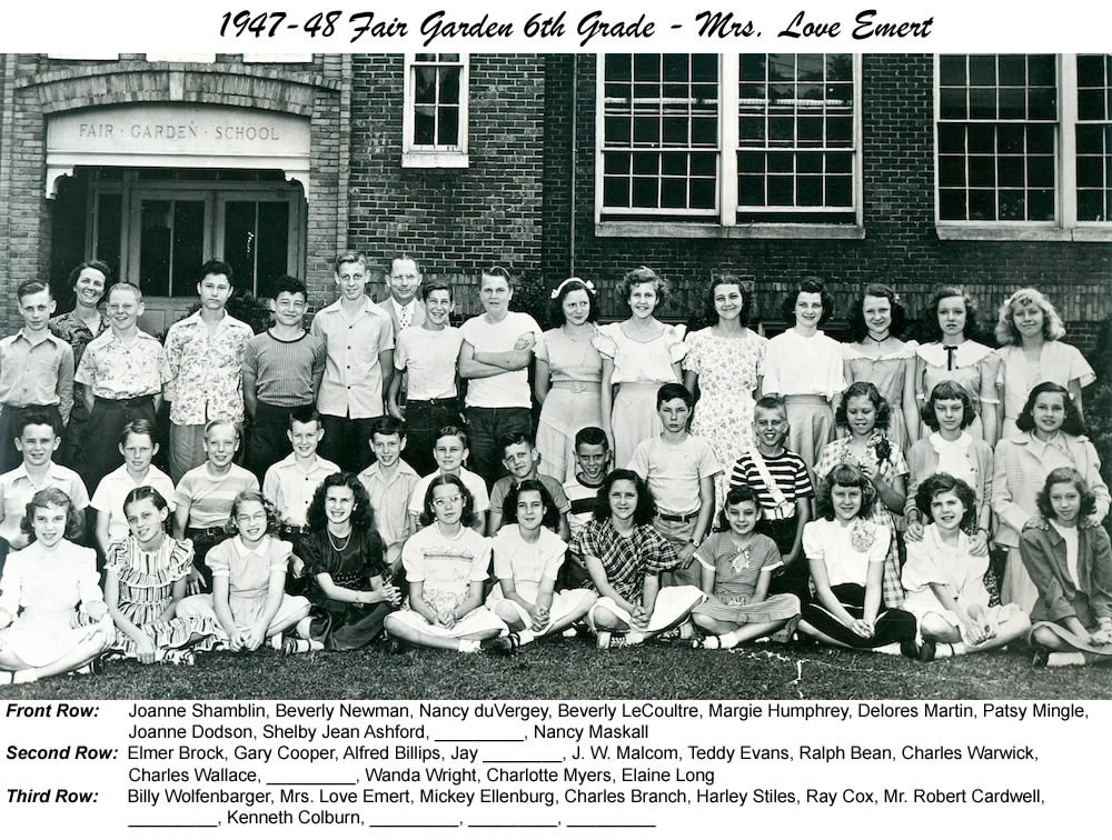 FG_1947_48_6th_Grade_Mrs_Love_Emert