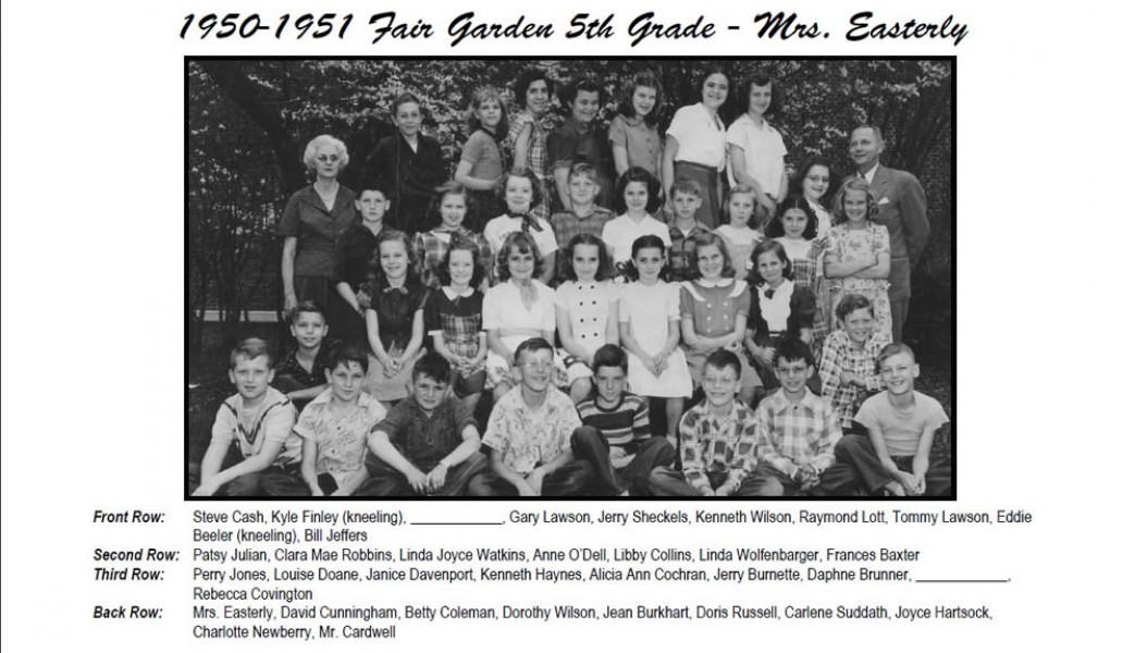 FG_1950_51_5th_Grade_Mrs_Easterly