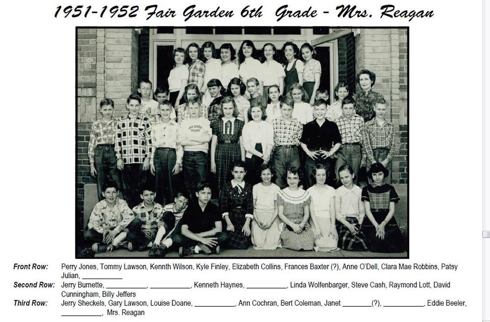 FG_1951_52_6th_Grade_Mrs_Reagan