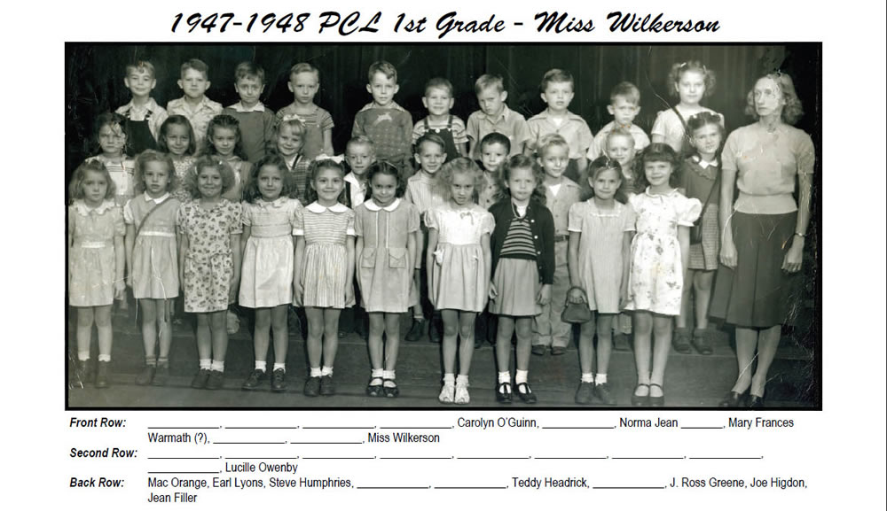PCL_1947_48_1st_Grade_Miss_Wilkerson