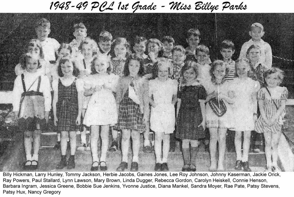 PCL_1948_49_1st_Grade_Miss_Billye_Parks