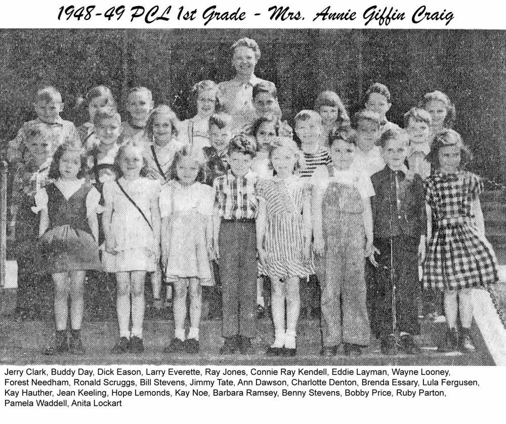 PCL_1948_49_1st_Grade_Mrs_Annie_Giffen_Craig
