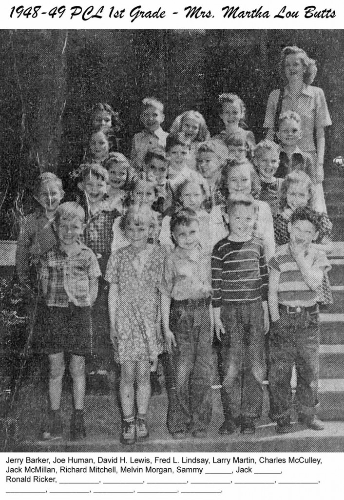 PCL_1948_49_1st_Grade_Mrs_Martha_Lou_Butts