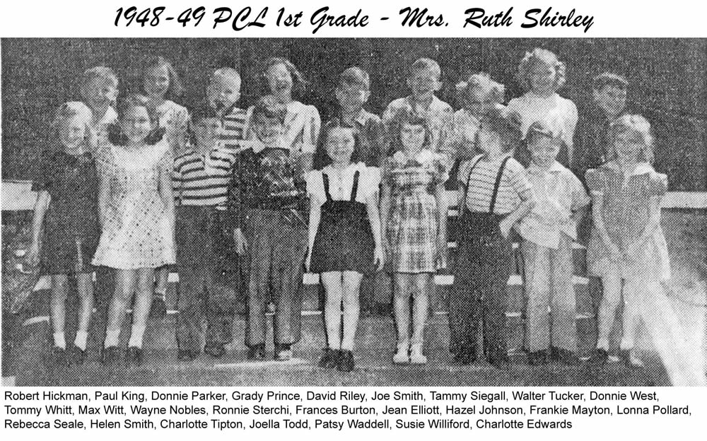 PCL_1948_49_1st_Grade_Mrs_Ruth_Shirley