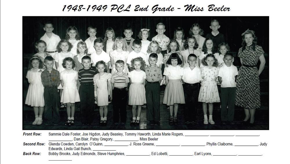 PCL_1948_49_2nd_Grade_Miss_Beeler