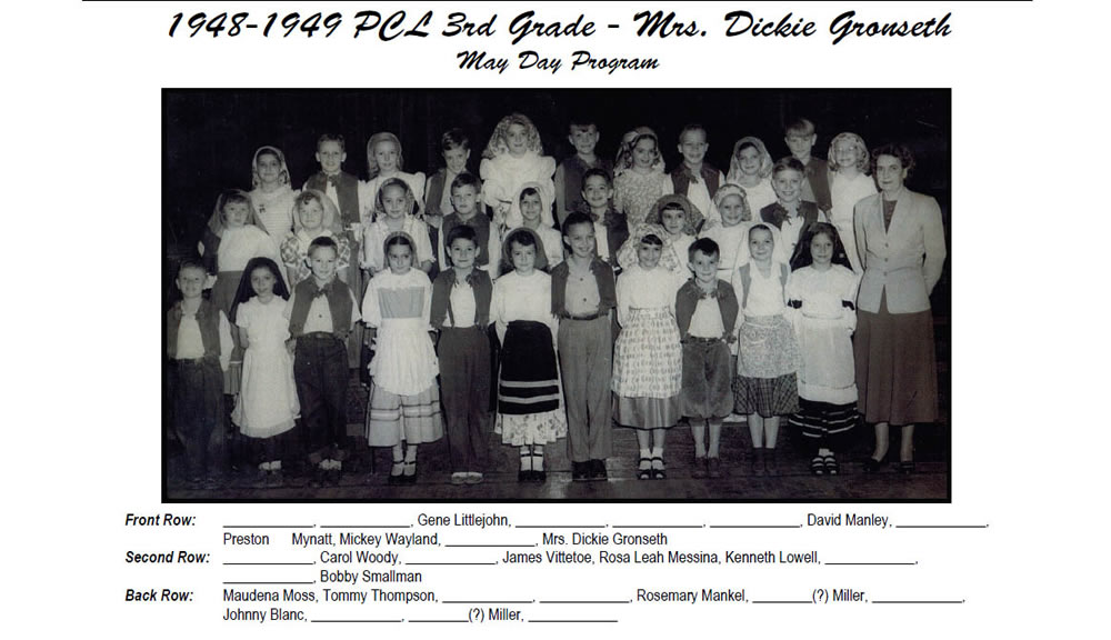 PCL_1948_49_3rd_Grade_Mrs_Dickie_Gronseth