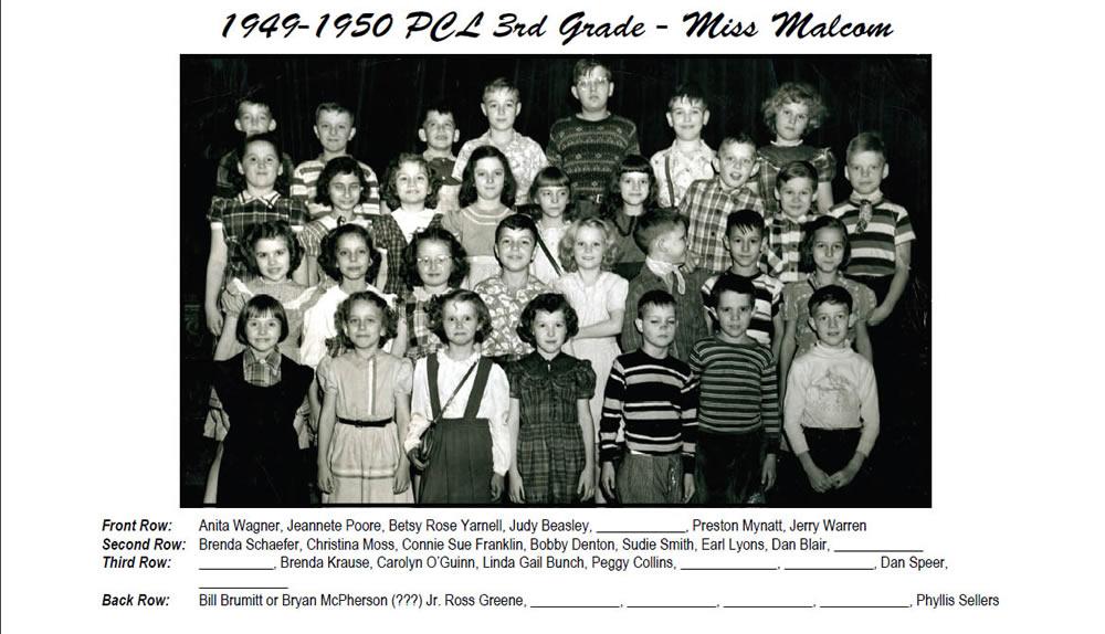 PCL_1949_50_3rd_Grade_Miss_Malcom