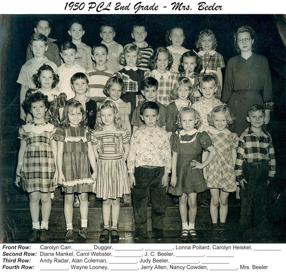 PCL_1950_2nd_Grade_Mrs_Beeler