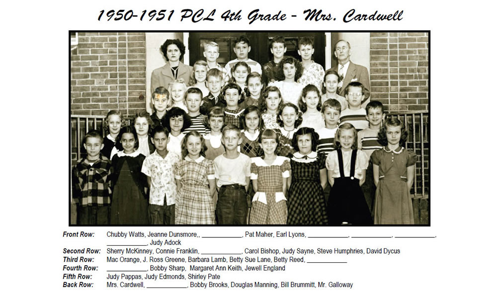 PCL_1950_51_4th_Grade_Mrs_Cardwell