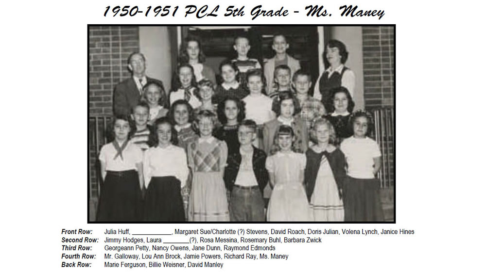 PCL_1950_51_5th_Grade_Ms_Maney
