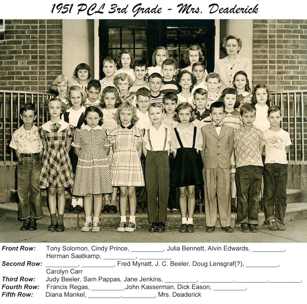 PCL_1951_3rd_Grade_Mrs_Deaderick