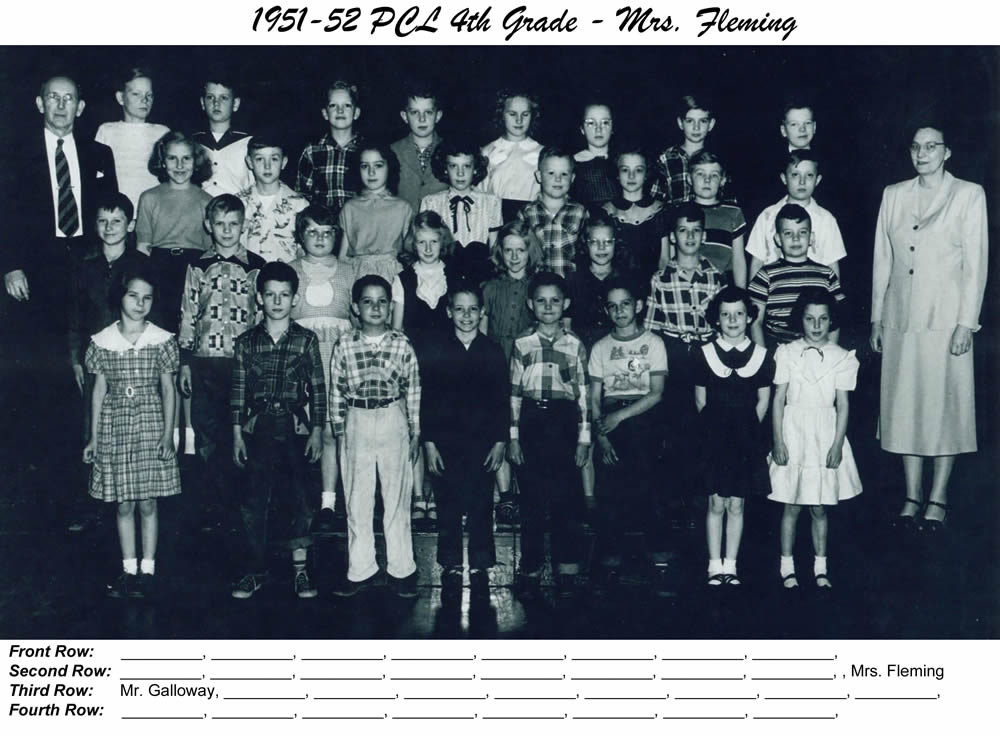 PCL_1951_52_4th_Grade_Mrs_Flemming