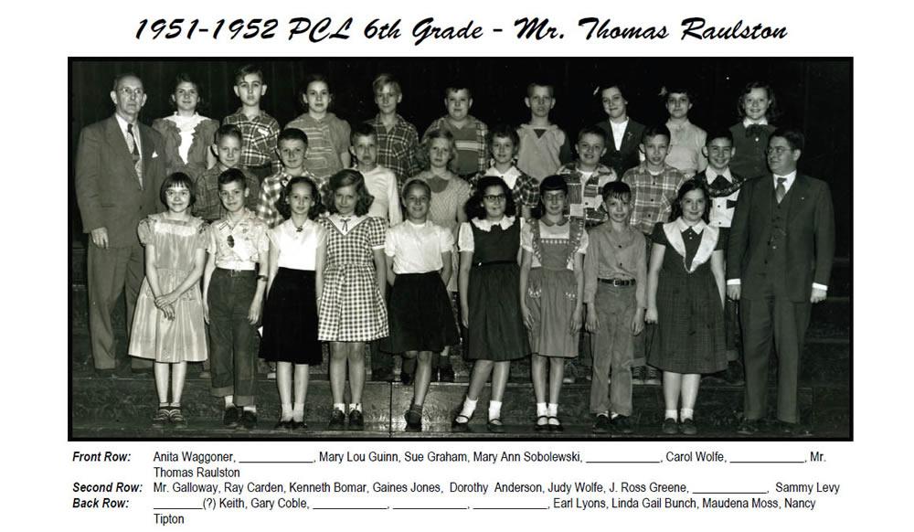 PCL_1951_52_6th_Grade_Mr_Thomas_Raulston