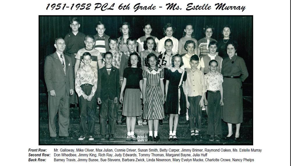 PCL_1951_52_6th_Grade_Ms_Estelle_Murray