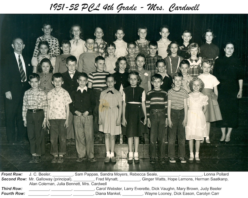 PCL_1951_52_Spring_4th_Grade_Mrs_Cardwell
