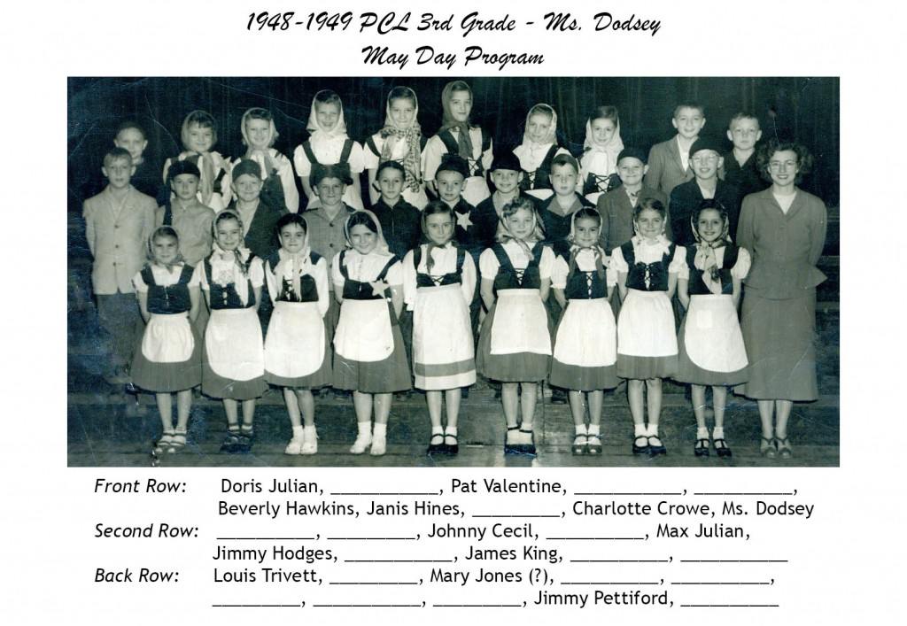 1948-1949 PCL 3rd Grade May Day - Ms Dodsey