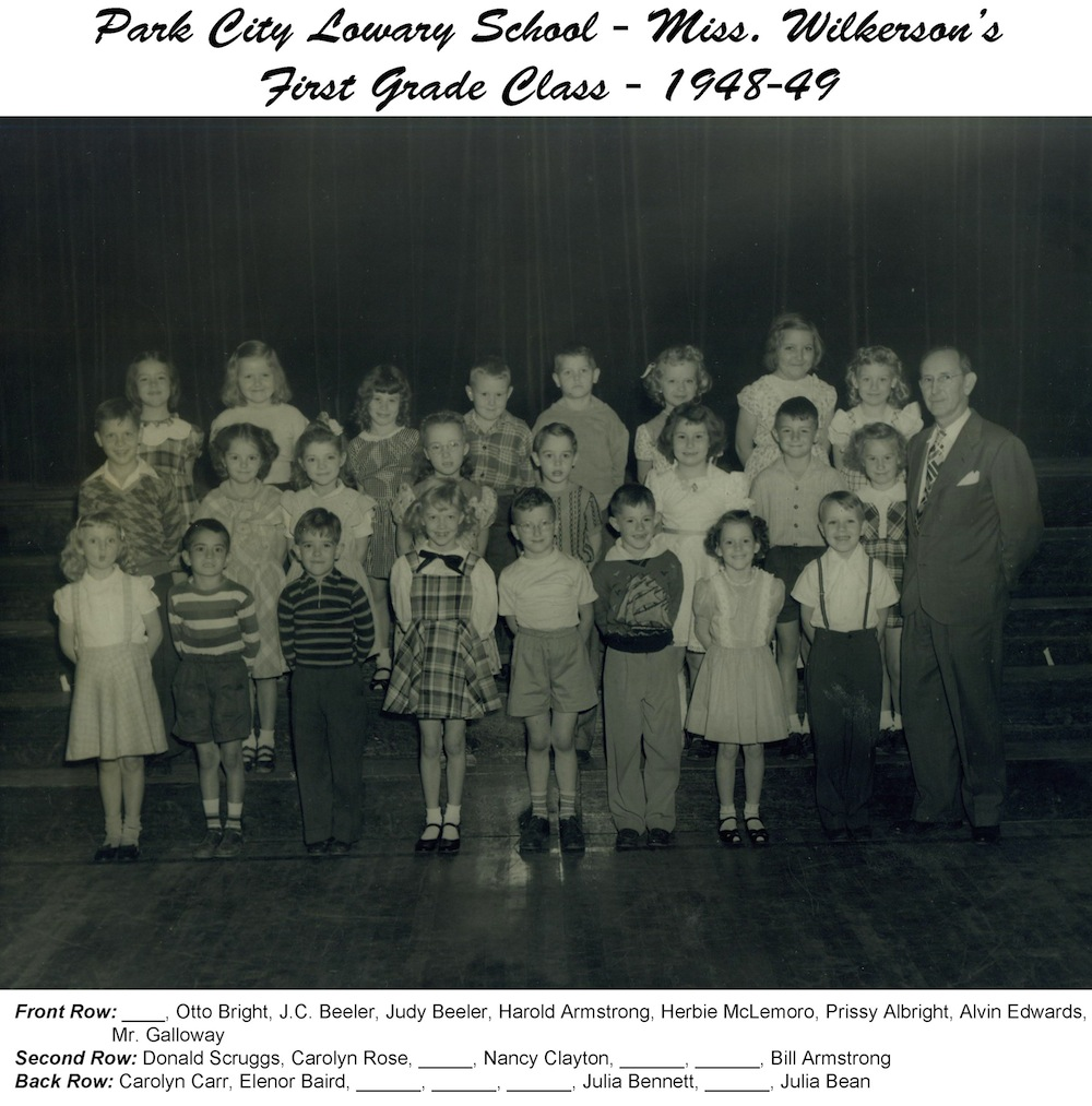 1948-49_PCL_1st_Grade_Miss_Wilkerson (with names)