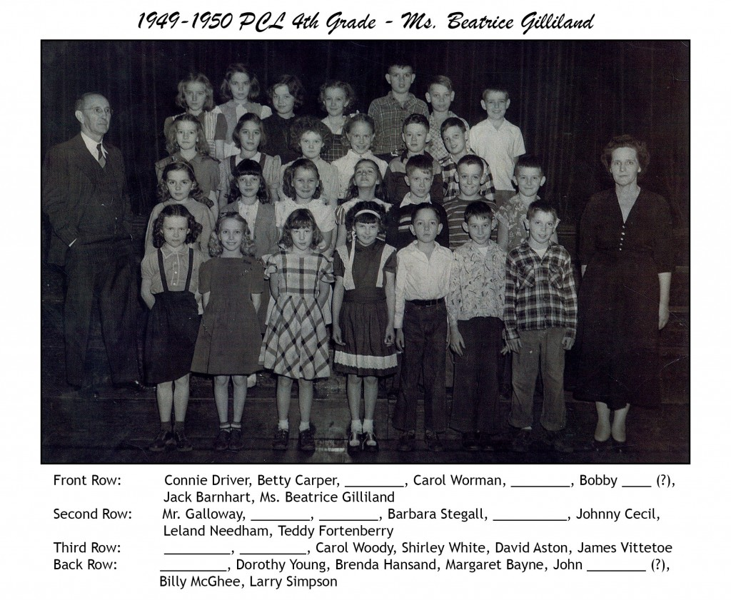 1949-1950 PCL 4th Grade - Ms. Gilliland