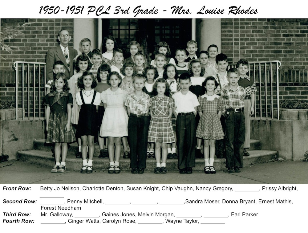 1950_51_PCL_3rd_Grade_Mrs_Louise_Rhodes