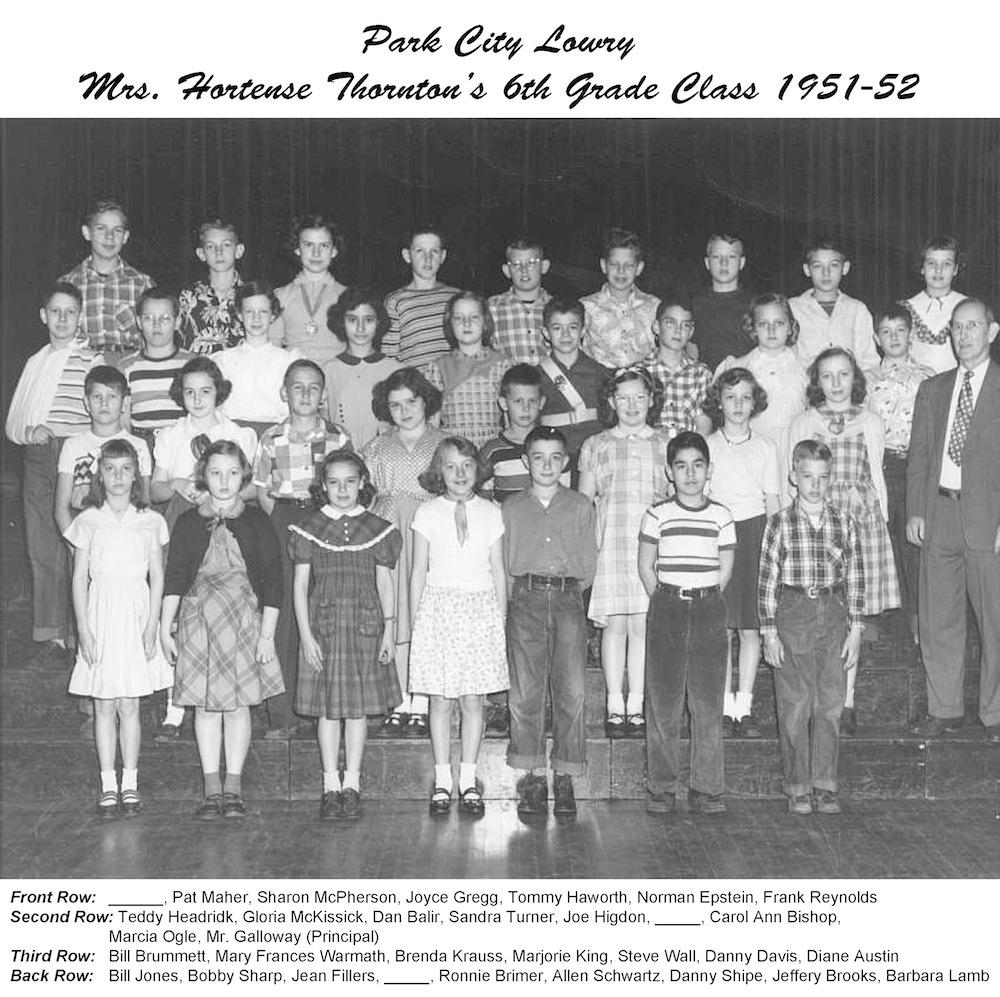 1951_52_PCL_6th_Grade_Mrs_Thornton