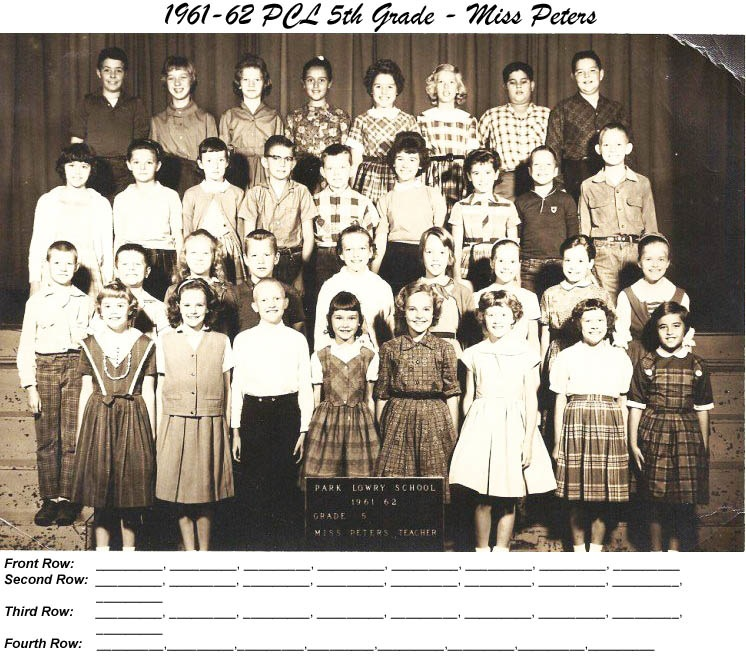 PCL_1961_62_5th_Grade_Miss_Peters
